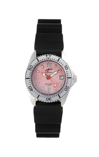 Chris Benz One Lady CBL-R-SI-KB Reloj elegante para mujeres Reloj de Buceo