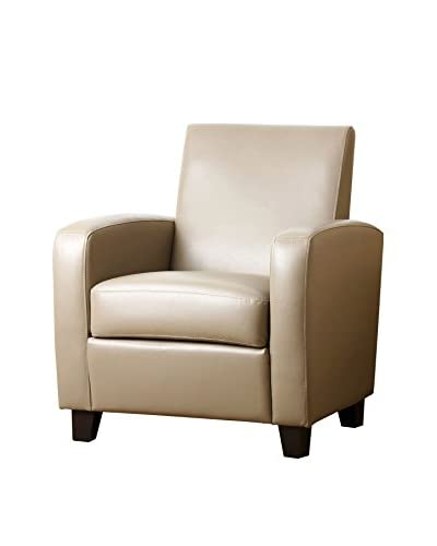 Abbyson Living Capella Bonded Leather Club Chair, Grey