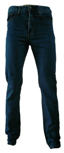 Chen Mens Basic Slim Fit Work Wear Jeans 30S Dark Wash