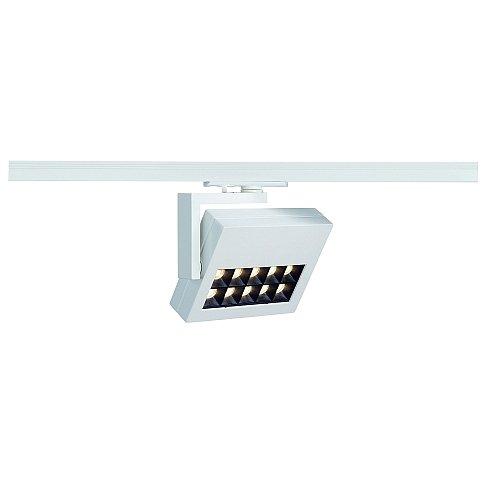 SLV 1-Phasen Strahler Profuno, 18W, Power LED, 3000K, 30 Grad, inklusiv Adapter, weiß 144051