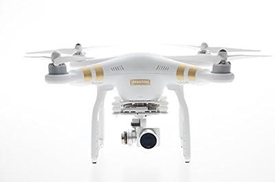 DJI Phantom 3 Professional UAV Aerial Quadrocopter Drohne mit Integrierter 4K Kamera und Gimbal zur Bildstabilisierung - Weiß/Gold