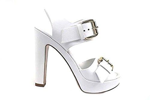 Scarpe donna LELLA BALDI 35 sandali bianco pelle AP830