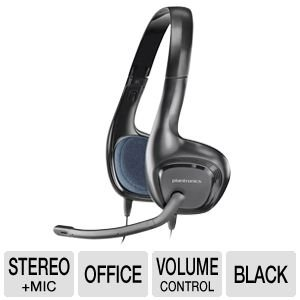 Plantronics Over-The-Head Lightweight Stereo Usb Noise-Cancelling Headset With Boom Microphone & In-Line Volume & Mic Controls