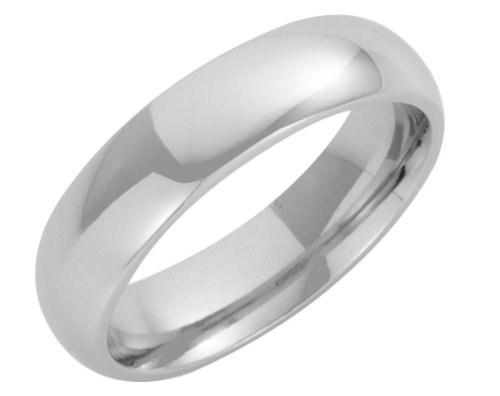 Platinum Wedding Ring, Heavy Court Shape, 5mm Band Width