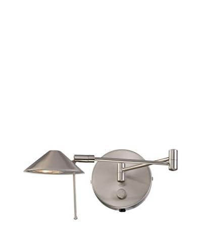 Lite Source Rhine Swing Arm Wall Lamp, Polished Steel