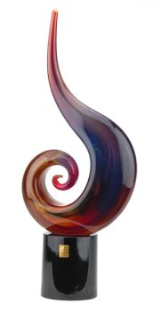 Murano Glass High Spiral Calcedonio Sculpture