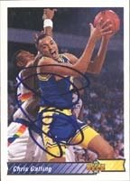 Chris Gatling Golden State Warriors 1993 Upper Deck Autographed Hand Signed Trading... by Hall of Fame Memorabilia