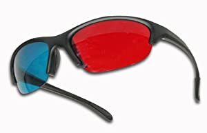 Pro X Style Red/Cyan 3D Glasses for Movies and Games on Flat Screens