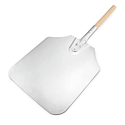 New Star Foodservice 50189 Aluminum Pizza Peel, Wooden Handle