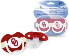 Oklahoma Sooners Official NCAA Baby Pacifiers by Baby Fanatic - 1