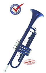Student Blue Bb Trumpet With Case, BLUTRUM