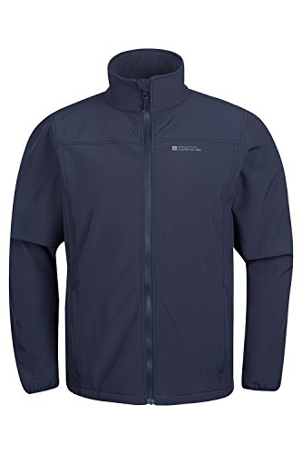 Mountain Warehouse Bracken Herren 3 In 1 wasserdichte jacke Multifunktionssjacke mit abnehmbarer Softshell Innenjacke Blau Large -
