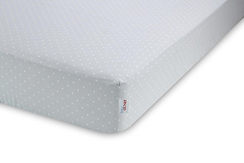 GUND Babygund Little Polka Dots Sateen Crib Sheet, Little Polka Dots - Peek A Blue, 28'' By 52''