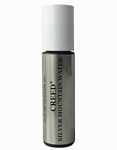 Premium *Version of *Creed_Silver_Mountain_Water* Cologne Oil For Men - Concentrated Roll On Type Perfume Oil in a Frosted Green Rollerball Glass Bottle .33 Oz/10ml by Perfume Studio Oils