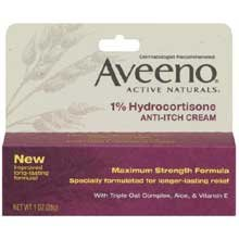 Johnson And Johnson Aveeno One Percent Hydrocortisone Anti-Itch Cream, 1 Ounce -- 24 Per Case. back-1027992