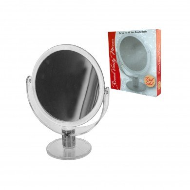 ★ THE PERFECT MIRROR - 6-inch Tabletop Two-sided Swivel Vanity Mirror with 8x Magnification, 11-inch Height, Sturdy Acrylic Stand