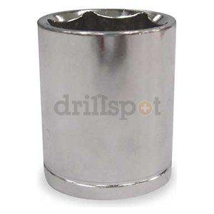 Westward 1NUB1 Socket, 1/2 In Dr, 6 Point, 24mm, 1 5/8 In