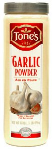 Tone's Garlic Powder (21 oz) - Large Restaurant / Food Service Shaker Top Siz...