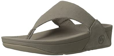 FitFlop Lulu Canvas Womens Casual Sandals Mink 3.0