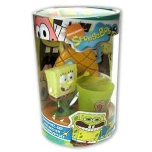 Sponge Bob Schwammkopf Zahnbürsten-Set Spongebob