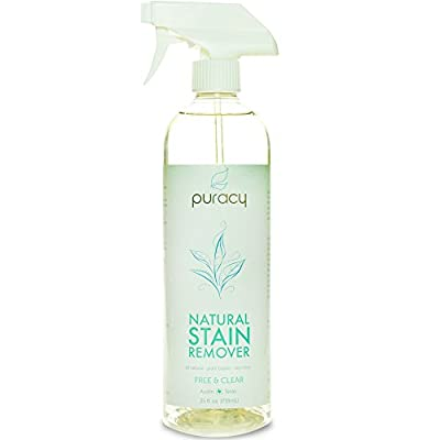 100% Natural Stain Remover, Plant-Based Enzyme Cleaner, Free & Clear, 25 Ounce Spray Bottle