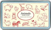 Rubber Stamp Set In Tin: Animals