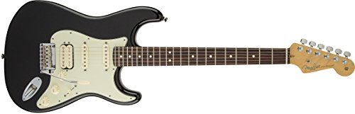 Fender American Deluxe Stratocaster Plus HSS Electric Guitar with Rosewood Fingerboard and Hardshell Case - Mystic Black (Fender American Electric Guitar compare prices)