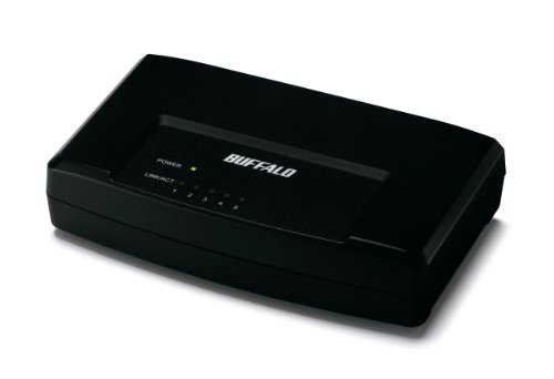 BUFFALO 10 / 100 5 port switching Hub black LSW3-TX-5EPL/B