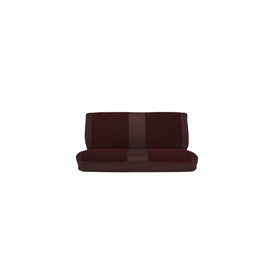 Acme U1001-6758 Front Medium Gray Vinyl Bench Seat Upholstery with Pleated Inserts