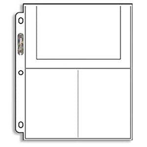 Ultra-Pro 3-Pocket Pages (4X6) - 100 Pages per box (Quantity of 1) [Misc.]
