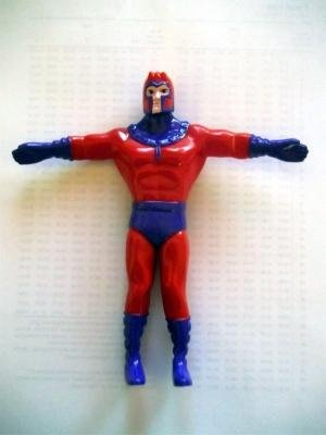 Magneto Figure - 1991 - RARE - Uncanny X-Men - Marvel - Bend-Ems - JusToys - Bendable Figure - Limited Edition - Mint - Collectible - 1