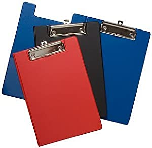 Tiger A5 clipboard foldover assorted colours x 1 single