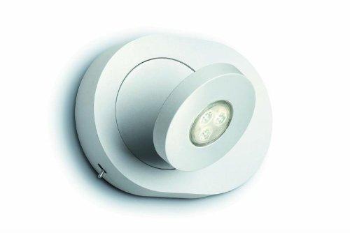 Philips Ledino 57910/31/16 Wandspot / 220-240V / 50-60Hz / weiss / Aluminium / 1 x 7,5 W / 3100K warm-weiss / dimmbar / Ein-/Ausschalter