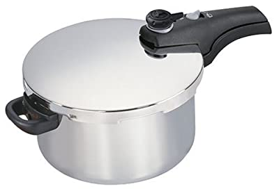 Manttra Smart 6 Quart Stainless Steel Pressure Cooker from Mercantile International