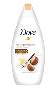 Dove Purely Pampering with Shea Butter & Warm Vanilla Body Wash 500 ML with Free Scarlet Loofah