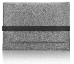 """Hostey Macbook 13.3 Zoll Filz Sleeve Hülle Ultrabook Laptop Tasche für Apple Macbook Air 13 und vieles mehr [Größe: 13.3"""" Zoll, Farbe: Grau]"""
