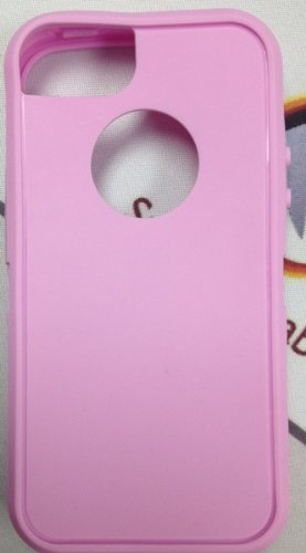 Replacement Silicone Skin For Iphone 5 Otterbox Defender Case By Sportygigabite (Pink) + 30 Days Money Back Warranty front-228966