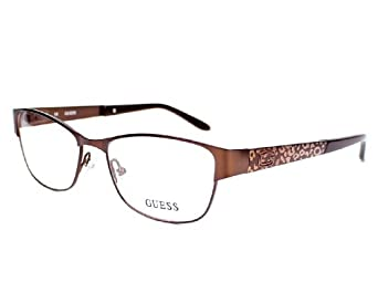 Guess eyeglasses GU 2389 BRN Metal Brown at Amazon Women s ...