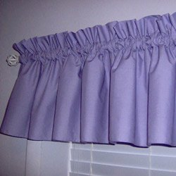 Solid Color Window Valance - Color: Peach front-1076969