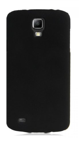 JUJEO 2108056058 Hard Cover for Samsung Galaxy S4 Active - Snap - Non-Retail Packaging - Black