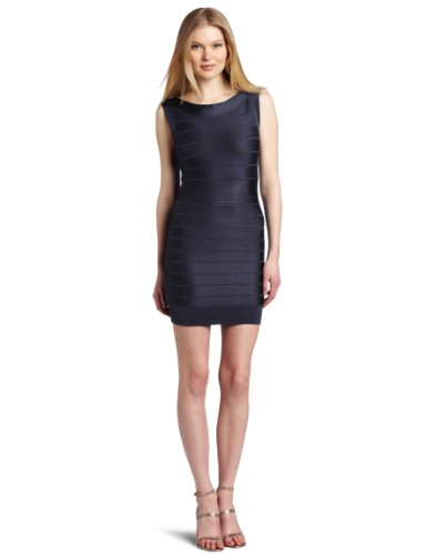French Connection Women's Ribbon Knits Short Sleeve Dress