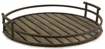 Imax Vermont Iron And Wood Tray front-435765