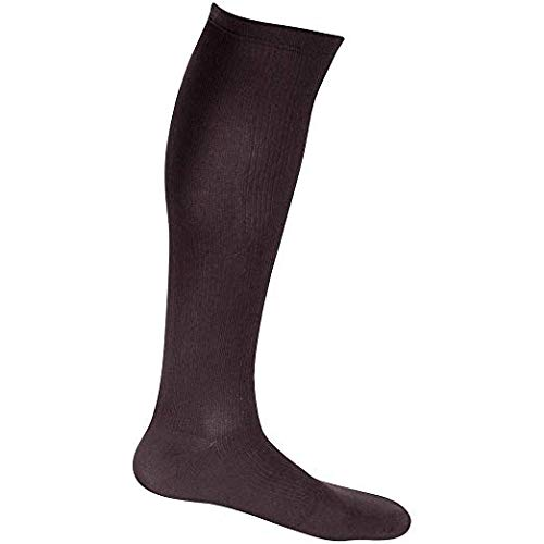 3 Pair EvoNation Men's USA Made Graduated Compression Socks 20-30 mmHg Firm Pressure Medical Quality Knee High Orthopedic Support Stockings Hose - Best Comfort Fit, Circulation, Travel (Large, Brown) (Color: Brown, Tamaño: Large)