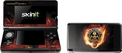 Skinit The Hunger Games -District 12 Logo on Fire Vinyl Skin for Nintendo 3DS