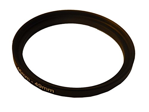 vhbw Step UP Filter-Adapter 46-49mm schwarz für Canon Casio Pentax Olympus Panasonic Sony Nikon Ricoh Sigma Tamron Samsung Fujifilm Agfa Minolta Kodak