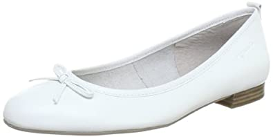 Tamaris 1-1-22122-20, Damen Ballerinas, Weiß (WHITE 962), EU 40