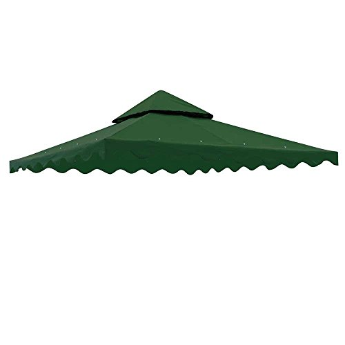10x10 Ft Garden Gazebo Replacement Canopy Top (Green) photo