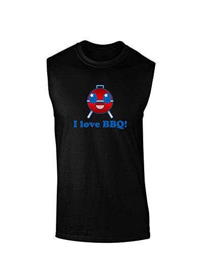 I Love BBQ Dark Muscle Shirt - Black - 2Xl