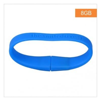 16GB FANCY DESIGNER WRISTBAND USB PENDRIVE (BLUE)