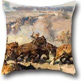 Throw Pillow Covers Of Oil Painting Septimus Power - The Battle Before Villers-Bretonneux, August 8th, 1918,for Bar,wedding,office,home Theater,son,valentine 20 X 20 Inches / 50 By 50 Cm(two Sides) (Fitted Sheet Split King Power Bed compare prices)